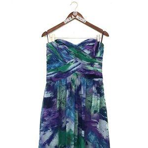 JS Boutique Multicolor Strapless Maxi Dress